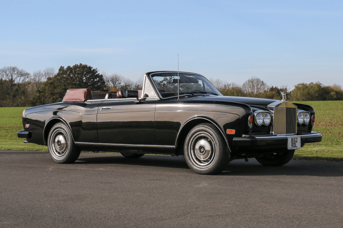 Frank Sinatra's Rolls Royce Corniche for sale at auction