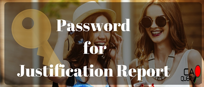 Password To Open Justification Report Of TDS