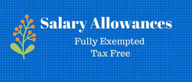 Which Salary Allowances are Fully Exempted