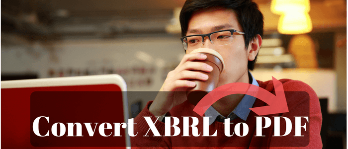 How to convert XBRL File to PDF in 4 Easy Steps