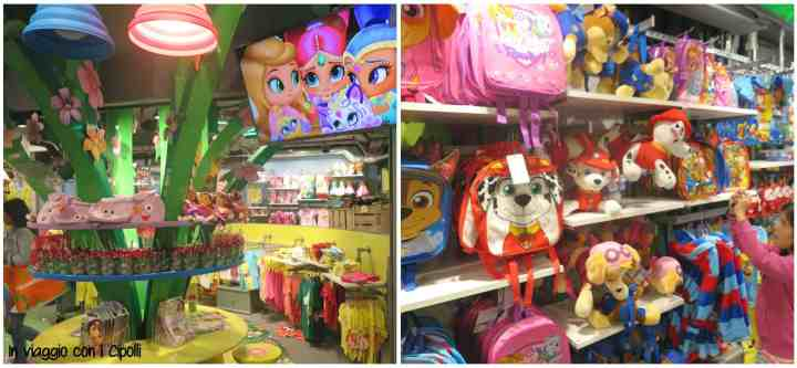 Londra con i bambini Nickelodeon Store