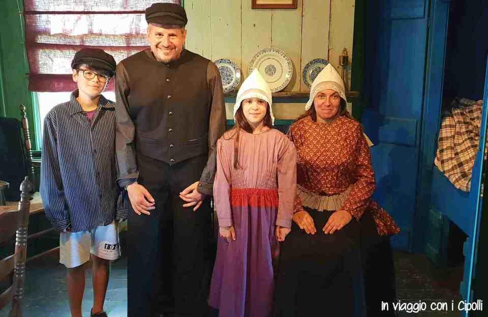 Zaanse Schans famiglia olandese