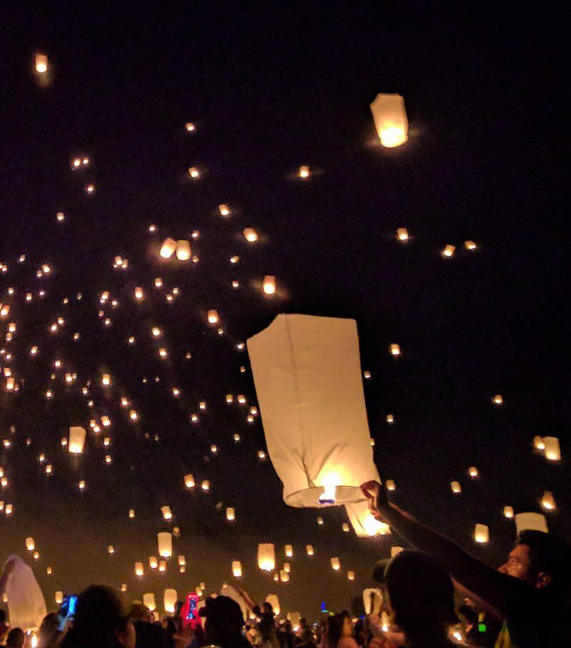 Festival delle lanterne in Thailandia