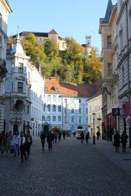 Viaggio a Lubiana, a passeggio per il centro storico della città (Slovenia)