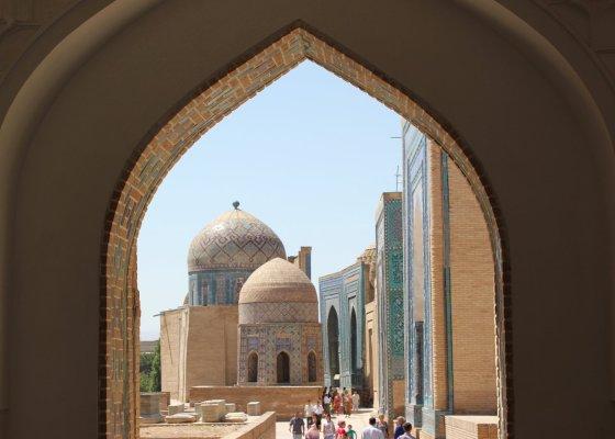 Viaggio in Uzbekistan, Mausoleo di Shah-i-Zinda a Samarcanda