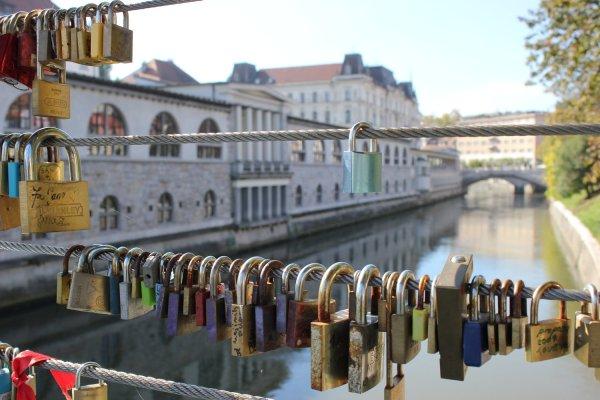 Viaggio a Lubiana, Mesarski most, il ponte dei macellai (Slovenia)