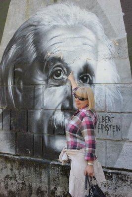 Viaggio a Opatija, murales di Albert Einstein (Croazia)