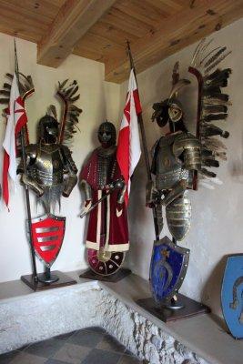 Armatura degli Ussari Alati nel museo del Castello di Bobolice (Polonia)