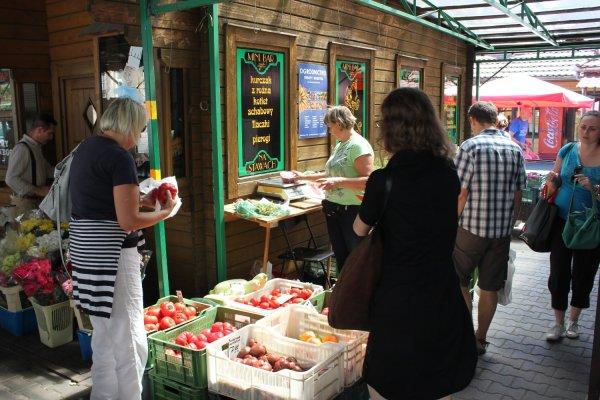 Bazar di Plac na Stawach (Cracovia, Polonia)