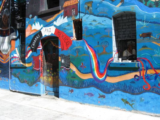 Viaggio a San Francisco, murales in Columbus Ave (Stati Uniti)