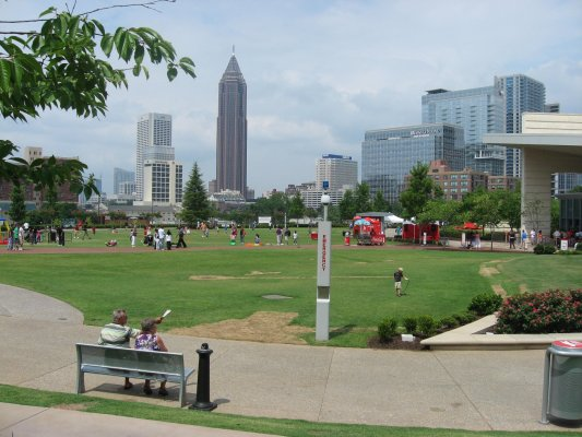 Viaggio ad Atlanta, panorama sul Centennial Olympic Park (Stati Uniti)