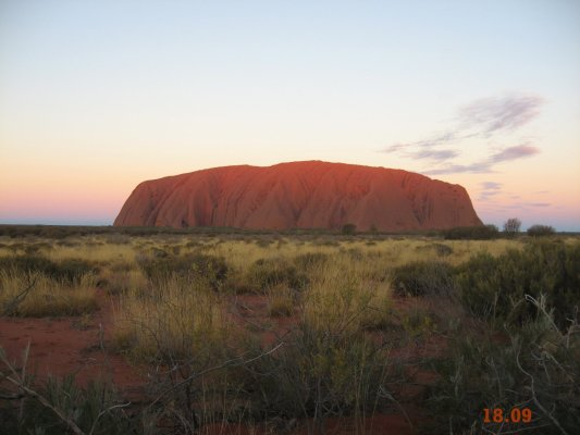 Viaggio in Australia, il tramonto ad Uluru (Northern Territory)