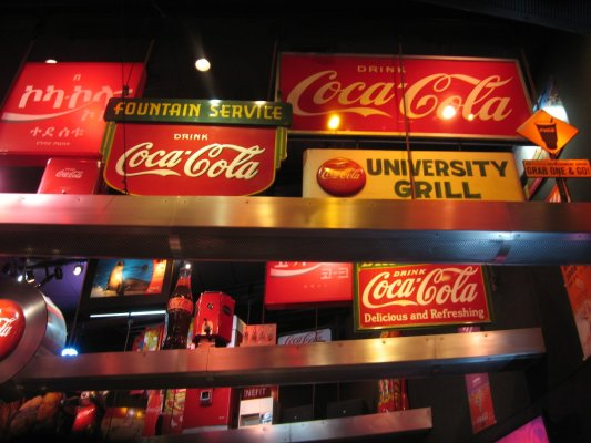 Viaggio ad Atlanta, interno del World of Coca Cola (Stati Uniti)