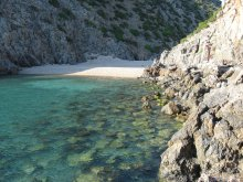 Viaggio in Sardegna, caletta nei pressi della spiaggia di Cala Domestica (Italia)