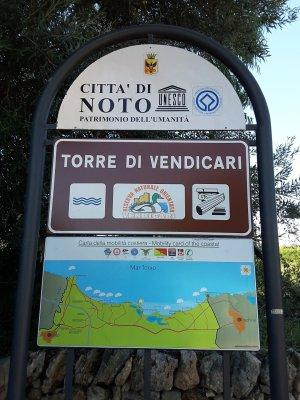 Viaggio in Sicilia, ingresso della Riserva di Vendicari