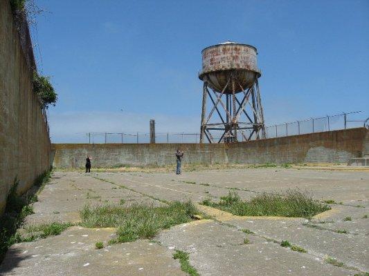 Cortile carcere Alcatraz San Francisco