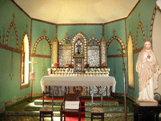 La chiesa del Sacro Cuore a Beagle Bay nel Western Australia