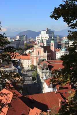 La chiesa dei Francescani a Lubiana in Slovenia