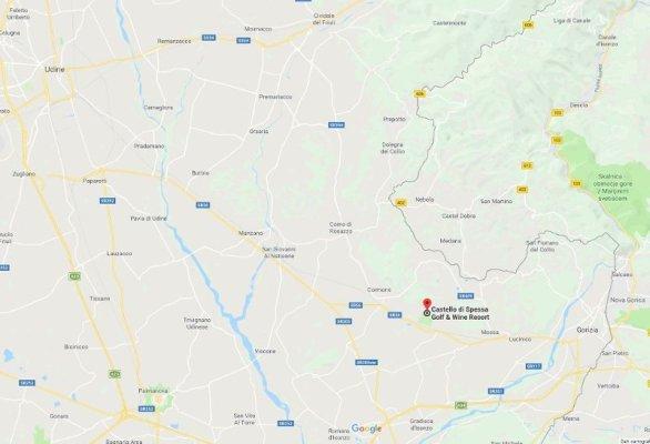La mappa del Collio Goriziano in Friuli Venezia Giulia