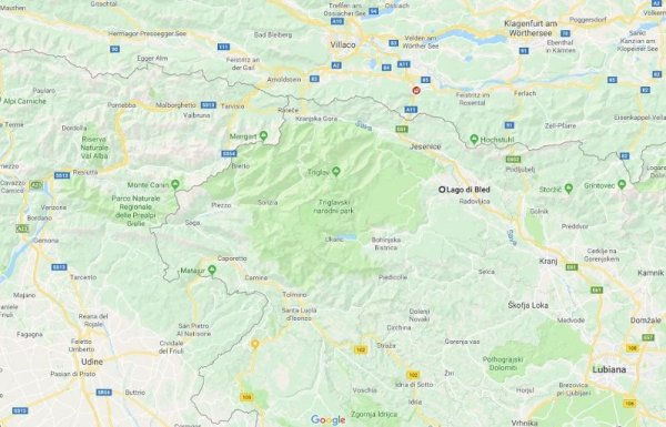 mappa bled