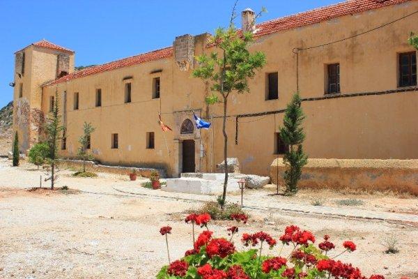 Il Monastero di Gouvernétou nella penisola di Akrotíri a Creta