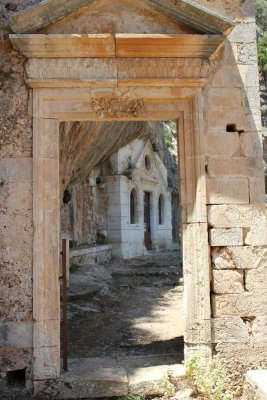 Ingresso del monastero di Ioánnou Eremíti a Creta