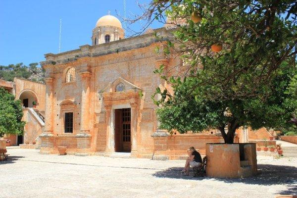 monastero Agías Tríadas penisola Akrotíri Creta