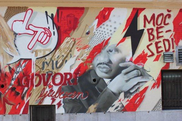 Street art centro Lubiana