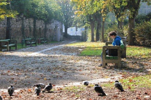 Un parco nei pressi di piazza Francoske Revolucije a Lubiana