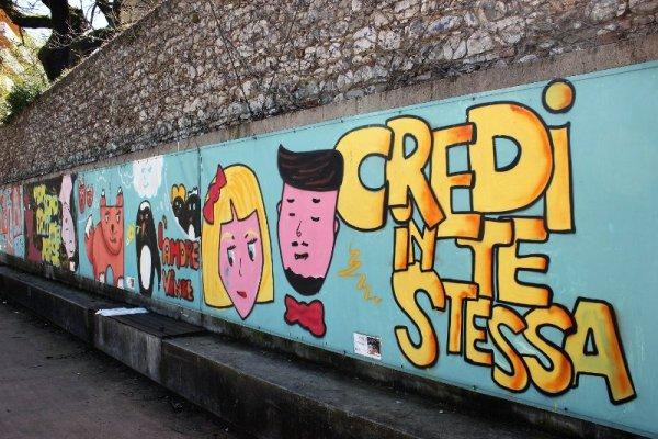 Progetto di street art Con Rispetto Parlando Udine