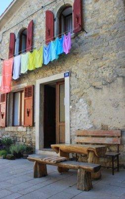 Uno scorcio del centro storico di Buzet (Pinguente) in Istria