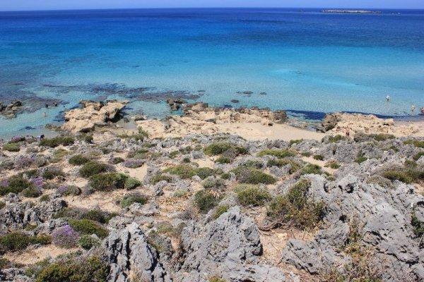 La spiaggia di Falásarna a Creta