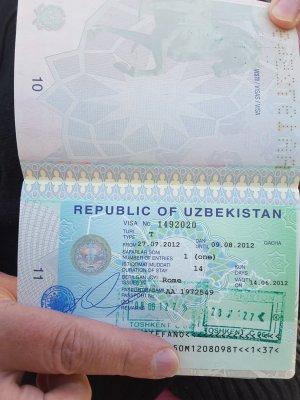 Visto Uzbekistan