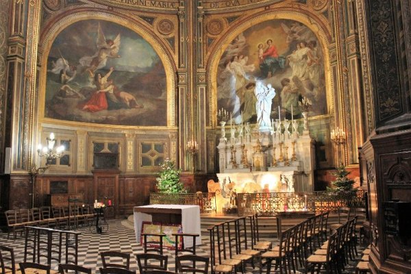 Interno Église Saint-Eustache Parigi