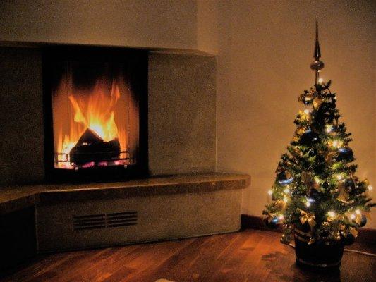 Albero Natale Caminetto casa polacca