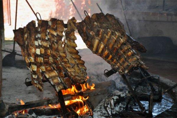 Un tipico asado argentino