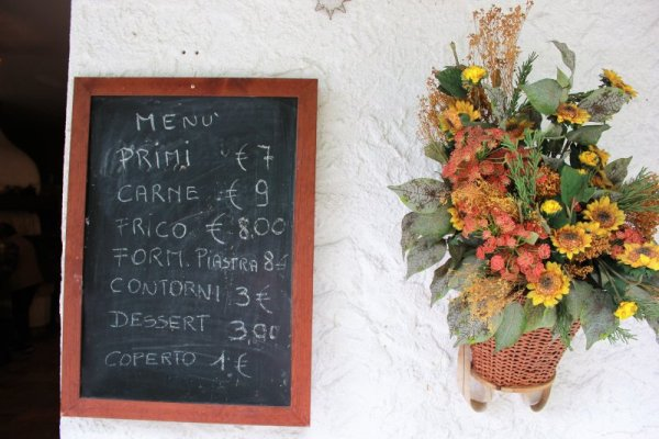 Listino prezzi Trattoria Fontanon