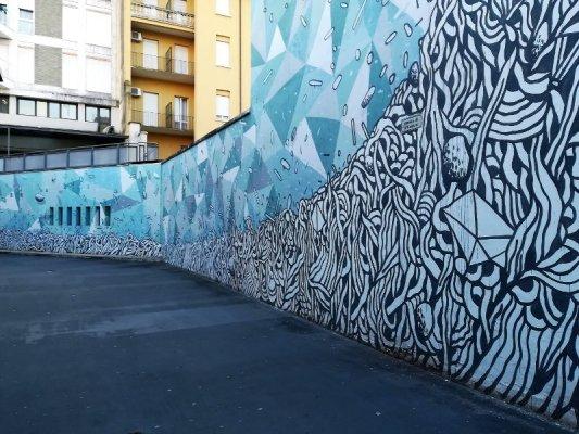 Street art a Udine in autostazione