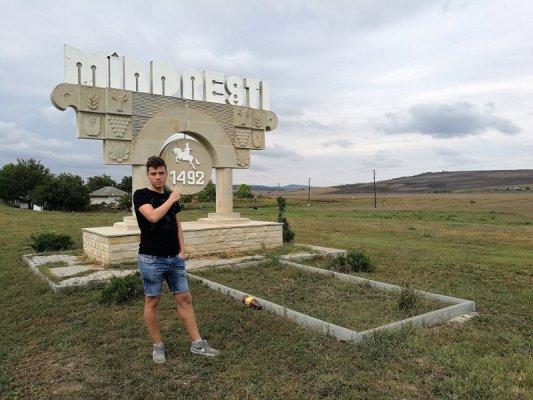 Insegna villaggio Mîndrești Moldova