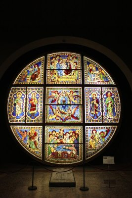 vetrata istoriata Duomo Siena Duccio di Buoninsegna