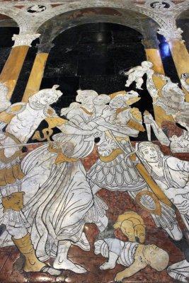 Pavimento marmo Duomo Siena