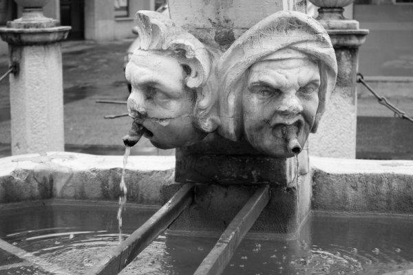 Particolare della fontana Da Ponte a Capodistria