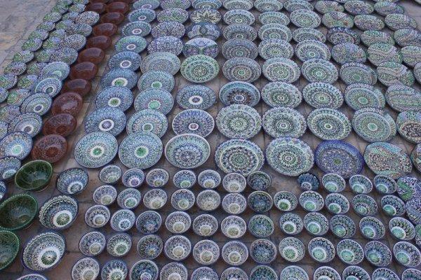 Bazar ceramiche Bukhara Uzbekistan