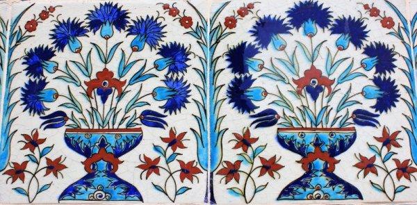 Piastrelle ceramica Harem Palazzo Topkapi Istanbul