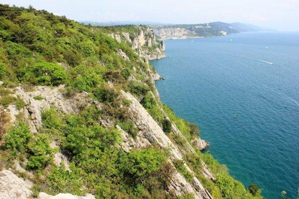 Falesie lungo il sentiero Rilke