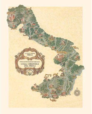 Mappa Comuni Colli Orientali del Friuli