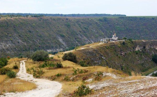 Panorama di Orheiul Vechi in Moldova