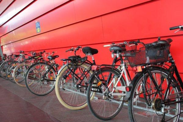 Il deposito biciclette Atrio Villach Austria