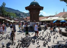 La piazza dei Piccioni Sarajevo
