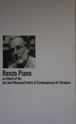 Renzo Piano progettista del museo Ars Aevi Sarajevo